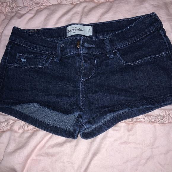 Dark denim jeans shorts